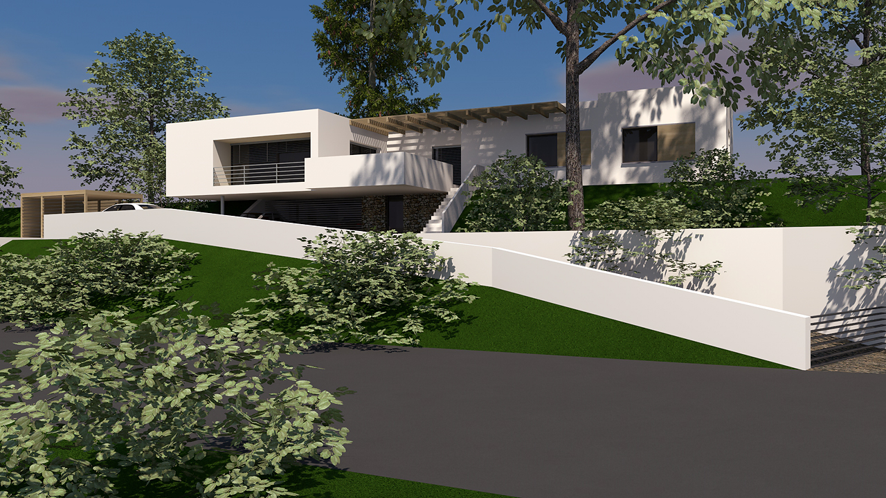 Art Webber modern lakóház terv