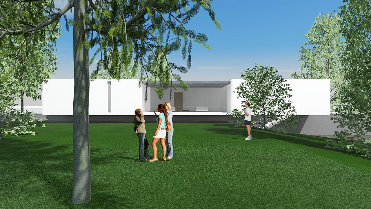 Art Webber építészeti tervvázlat
